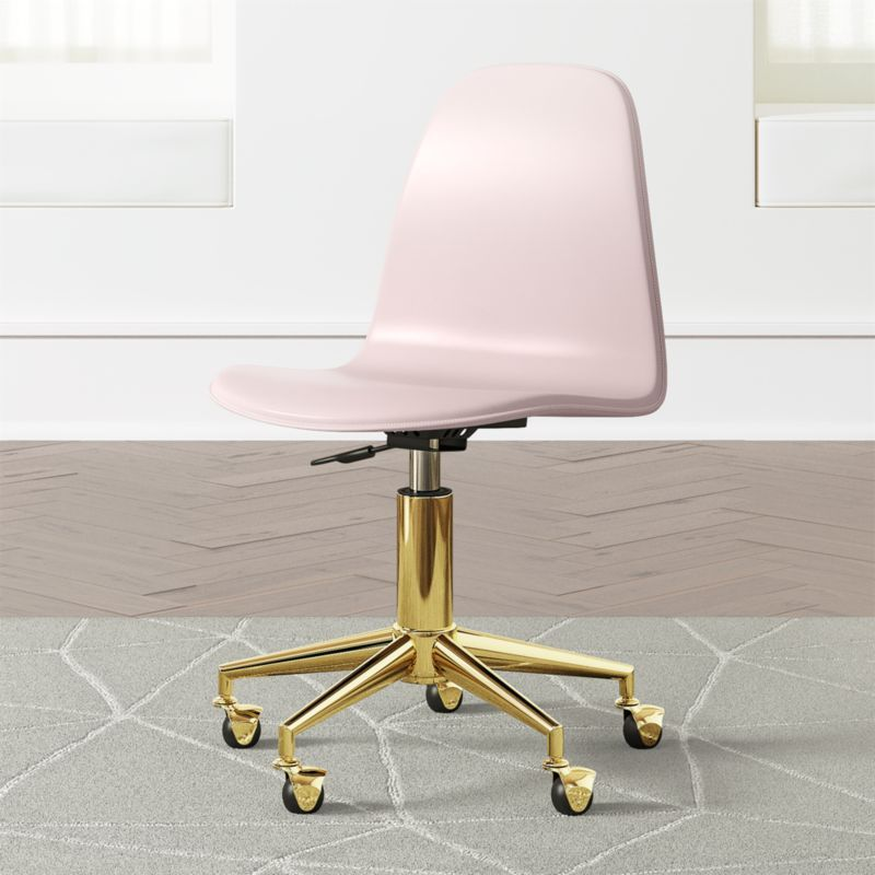 Kids Pink And Gold Desk Chair Reviews Crate And Barrel Gold Desk Chair Kids Desk Chair Desk Chair