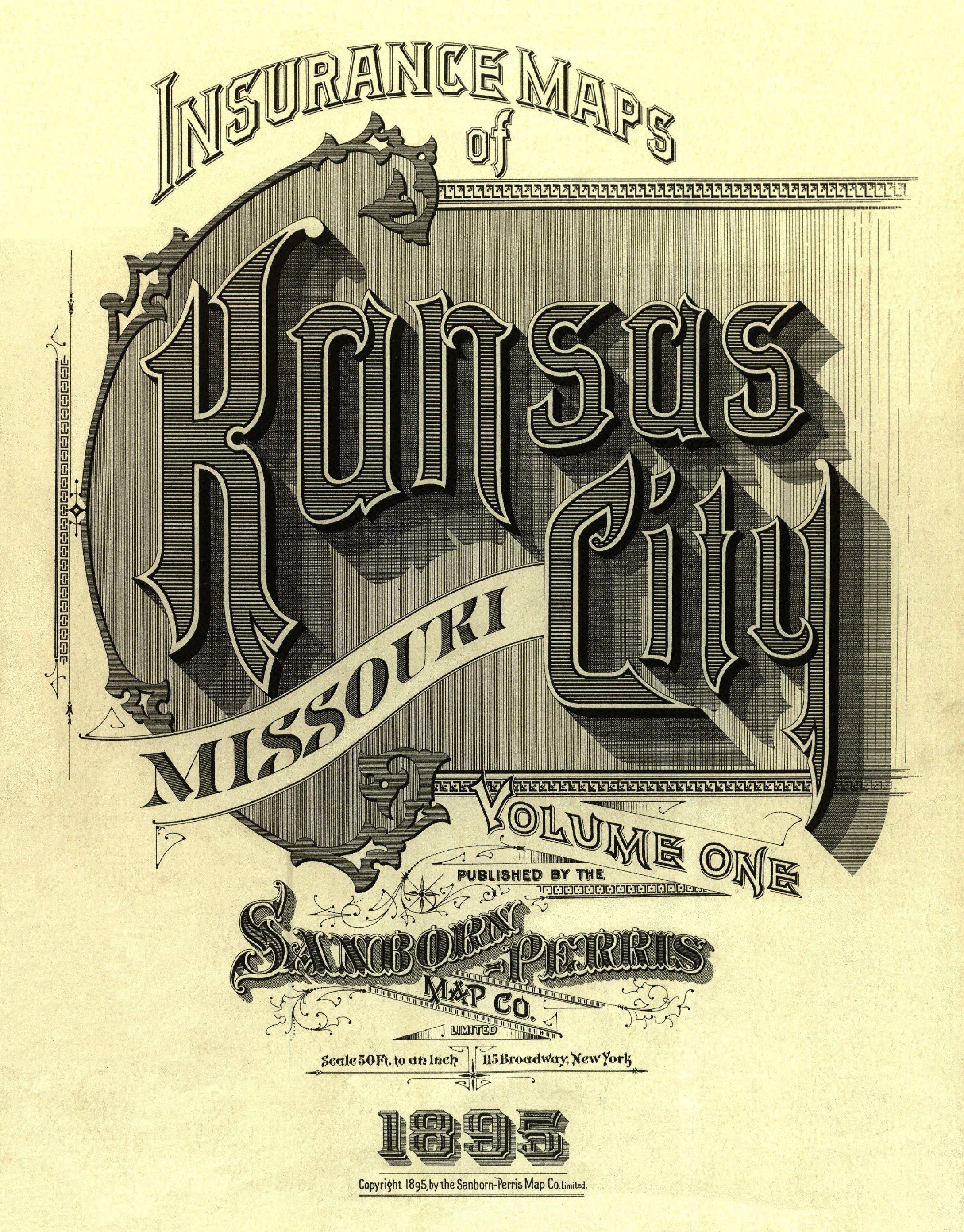 Kansas City Missouri December 1895 A Good Place To Grow Up Vintage Typography Typography Sanborn