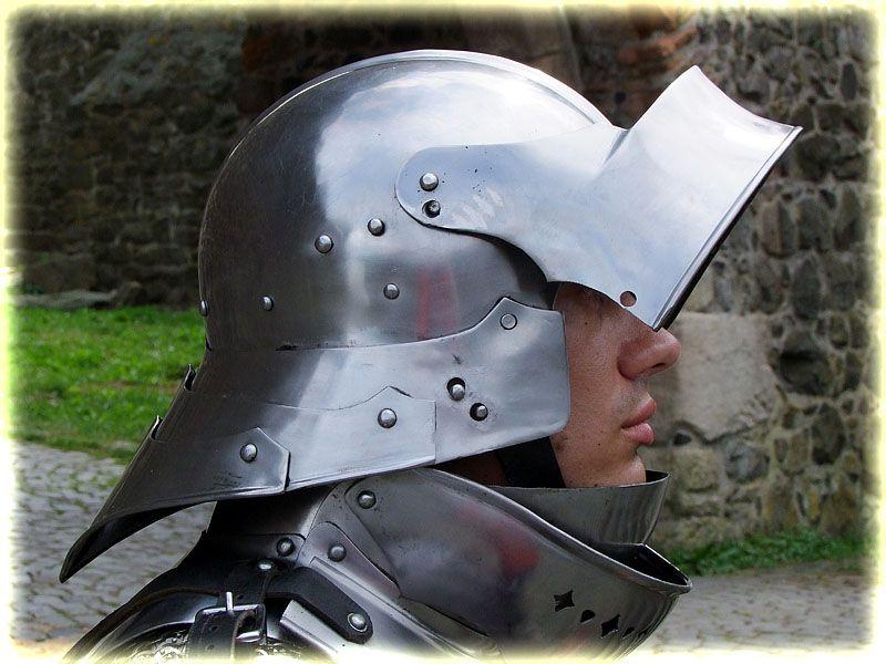 16G Steel Italian Sallet Medieval Functional Sparring Helmet WMA ...