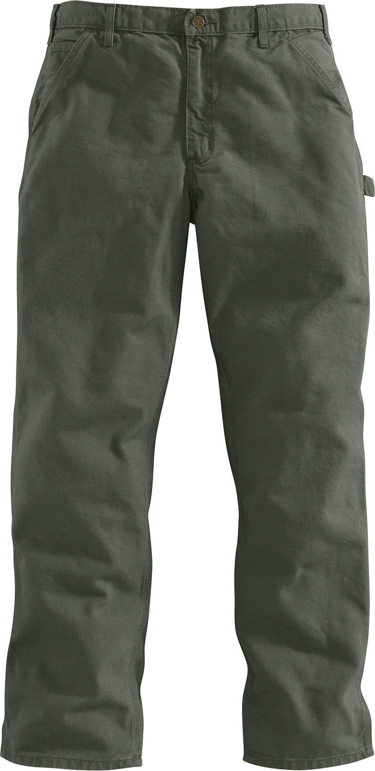 535c2242bf6 Carhartt Men's Washed Duck Work Dungarees - Big, Size: 54, Green