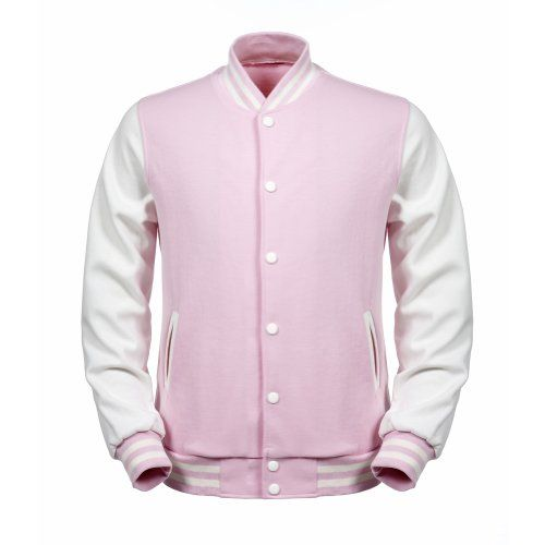 Angel Cola Pink & White ALL Cotton Varsity Baseball Letterman Jacket (S, Pink & White) Angel Cola http://www.amazon.com/dp/B00AJG7VHU/ref=cm_sw_r_pi_dp_1CfUvb0ECEBVE