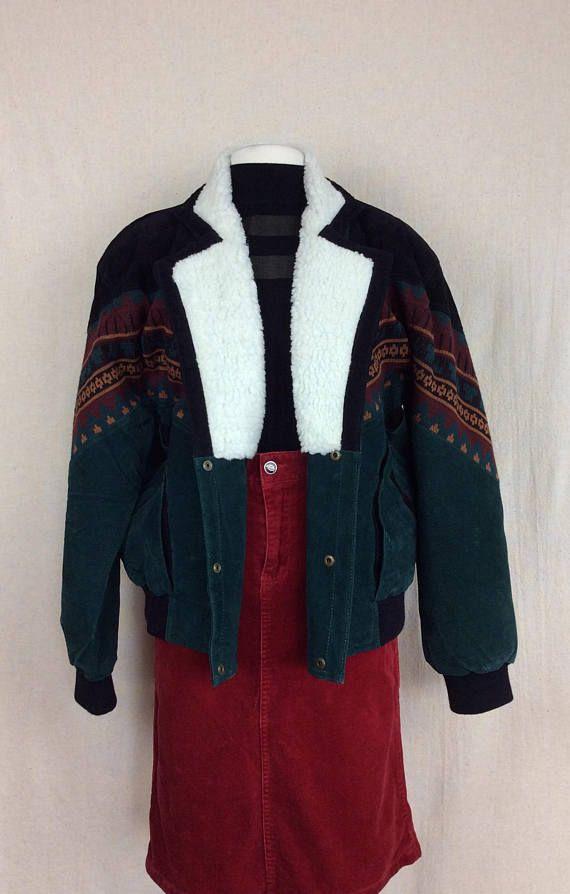 Hipster Jacket 90s Vintage Wool Short Coat