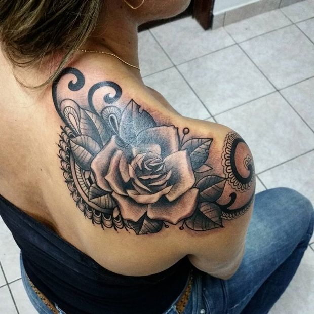 f812c4d40 Black Rose Tattoo-26 More. 42 Totally Awesome Black Rose Tattoo That Will  Inspire You To Get Inked ...