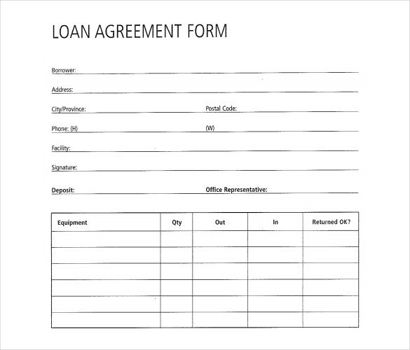 Free Loan Agreement Form   Great Loan Agreement Template