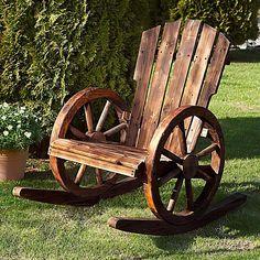 garten schaukelstuhl wagenrad diy garden outdoor gardens und porch. Black Bedroom Furniture Sets. Home Design Ideas