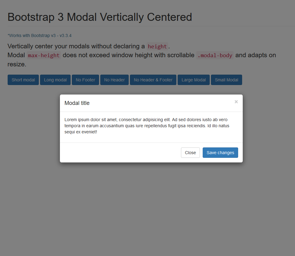 Bootstrap Modal Vertically Centered, #Bootstrap, #Code, #CSS, #CSS3 ...