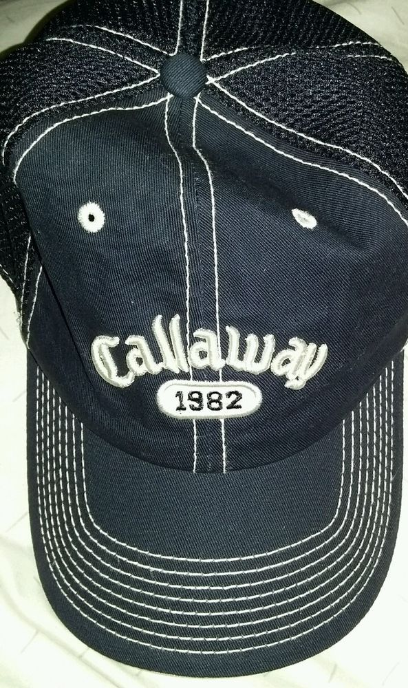 CALLAWAY 1982 GOLF Navy Blue Hat Baseball Cap Free Shipping  Callaway   BaseballCap 4e23462502eb