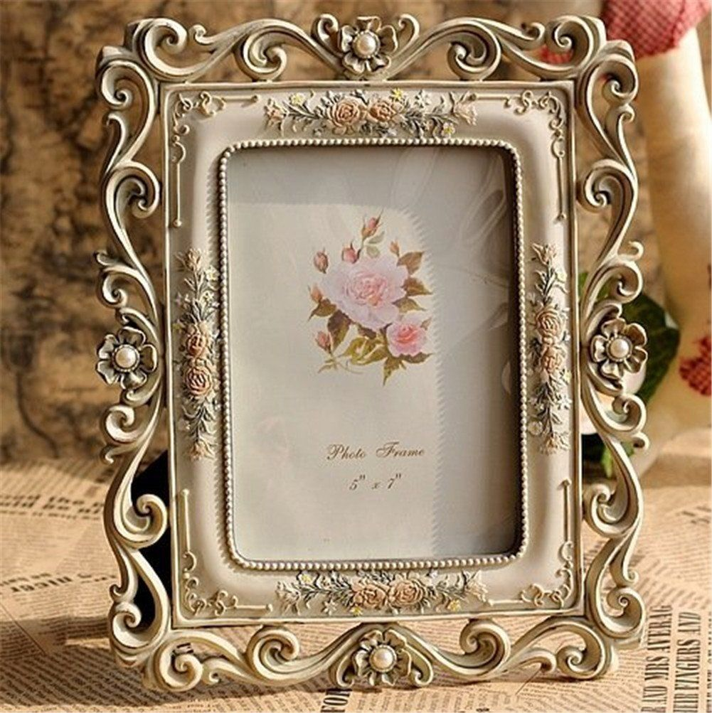 Amazon.com - Gift Garden Vintage Picture Frame 5 by 7 -Inch Hollow ...