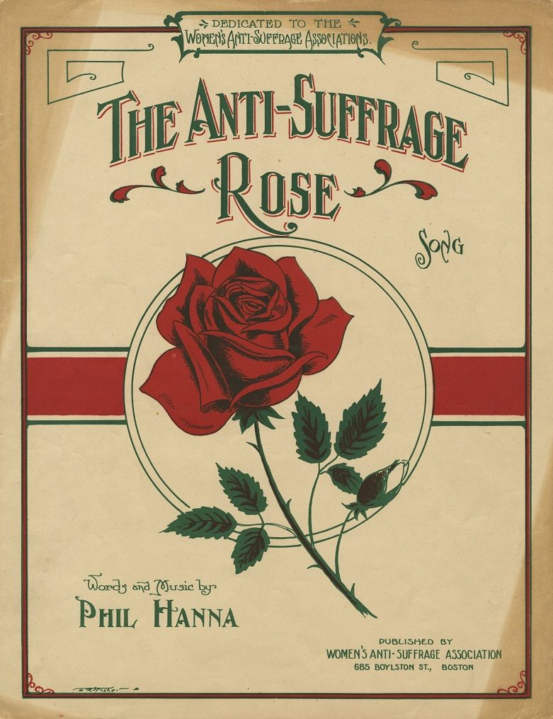 Image result for the anti-suffrage rose sheet music