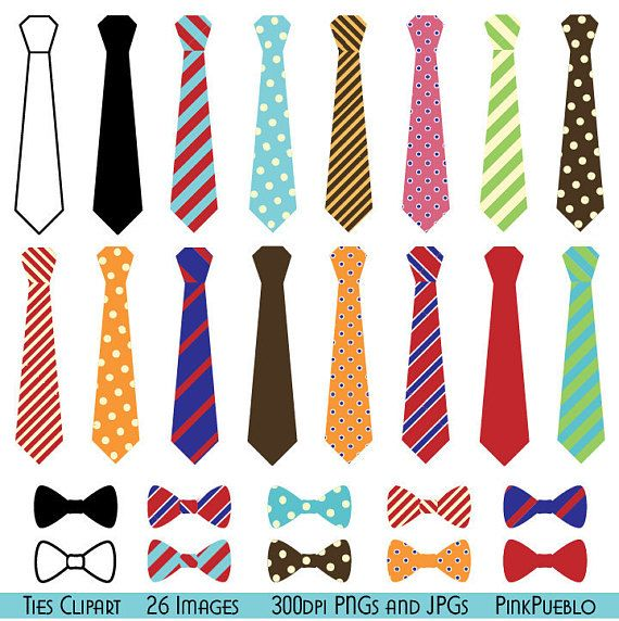 Ties Clipart Clip Art, Bow Ties Clip Art Clipart - Commercial and Personal Use #clipartfreebies