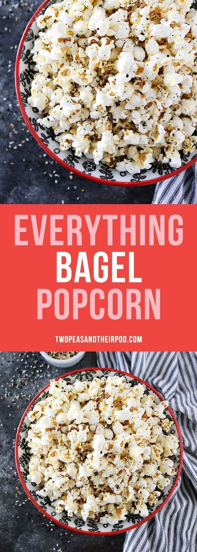 Everything Bagel Popcorn-hot buttery popcorn topped with everything bagel season! This easy popcorn snack is perfect for movie night game day or every day snacking! #GlutenFree #popcorn #movienightsnacks Everything Bagel Popcorn-hot buttery popcorn topped with everything bagel season! This easy popcorn snack is perfect for movie night game day or every day snacking! #GlutenFree #popcorn #movienightsnacks Everything Bagel Popcorn-hot buttery popcorn topped with everything bagel season! This easy #movienightsnacks