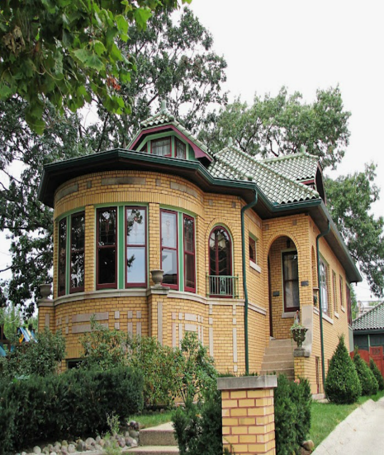 Chicago bungalow style brick house awesome pinterest for Chicago style bungalow floor plans