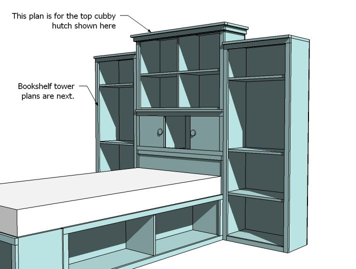 Diy Headboard Plans ana white | build a cubby hutch plans for the storage headboard