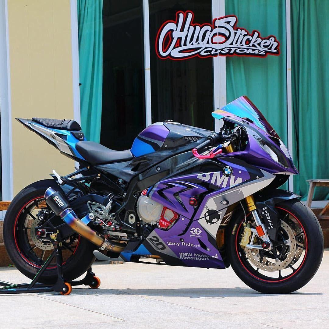 BMW SRR Purple HUG Sticker Customs Racing Motorcycle World - Custom motorcycle stickers racing