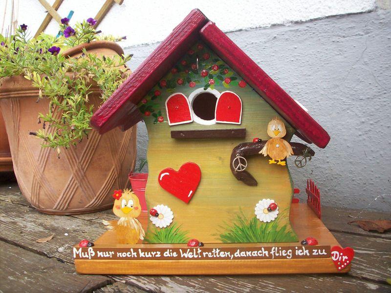 Gartendekoration - Vogelhaus Peace - ein Designerstück von Holz - gartendekoration aus holz