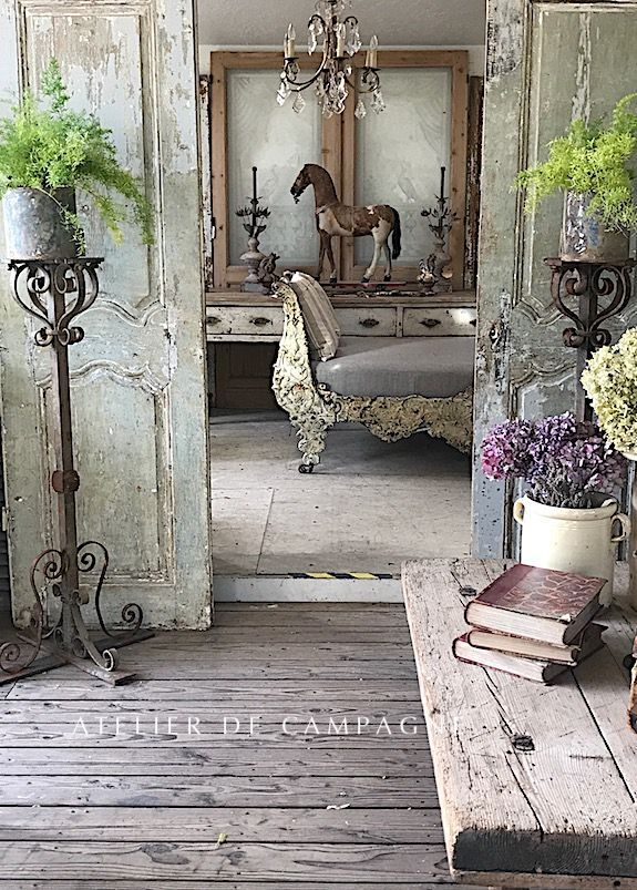 Photo of Love the rustic look of this french country home.