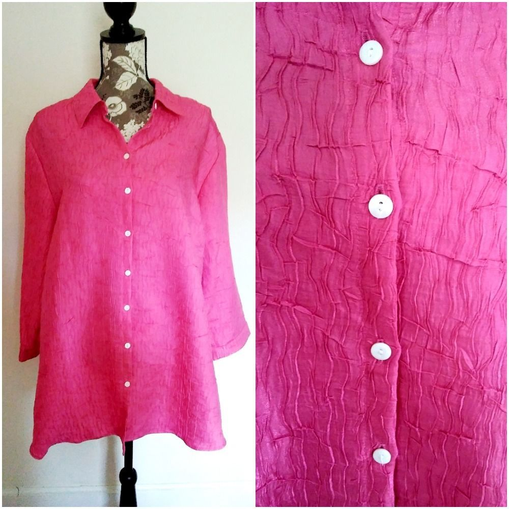 1228b62a84ae6a Allison Daley II Womens Plus Size 24W Blouse Top Shirt Button Front Evening  #AllisonDaileyII #Blouse #EveningOccasion