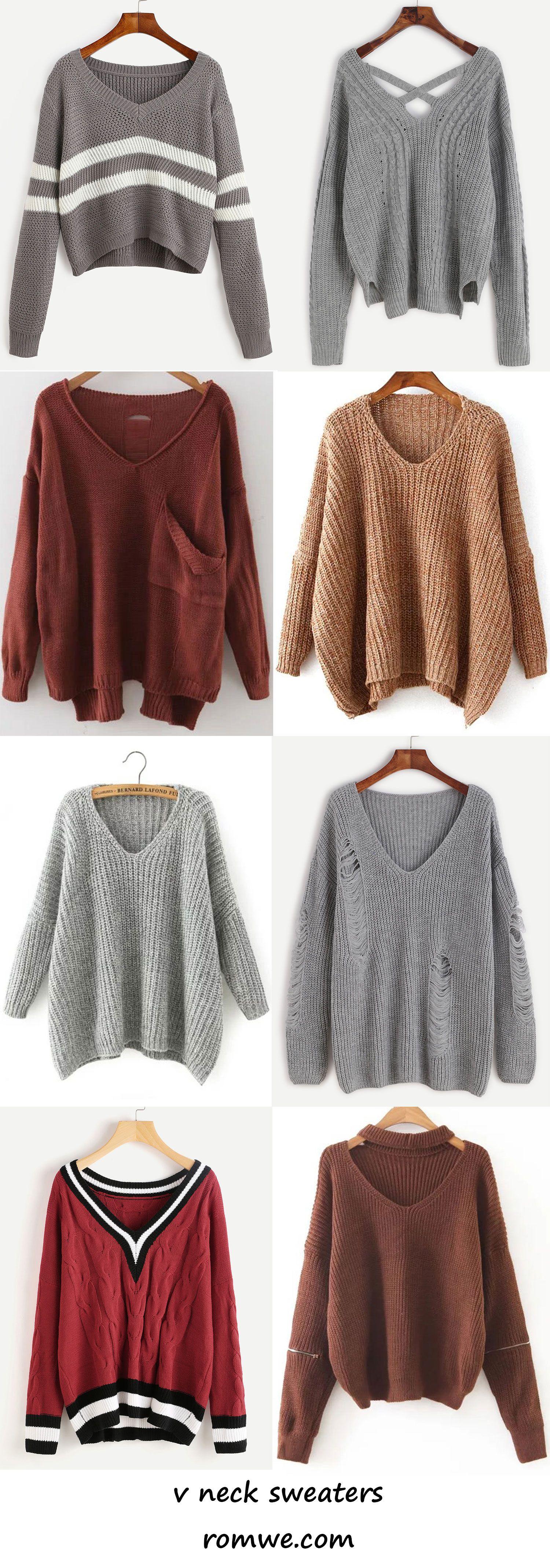 v neck sweaters 2017 - romwe.com | Romwe Women Style | Pinterest ...