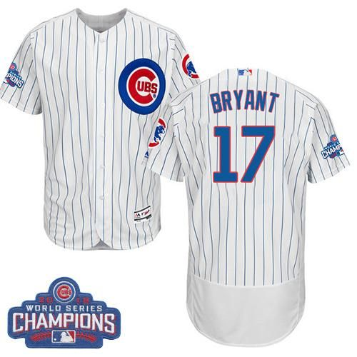 5c1efb94b discount cubs 17 kris bryant white flexbase authentic collection 2016 world  series bound stitched mlb jersey
