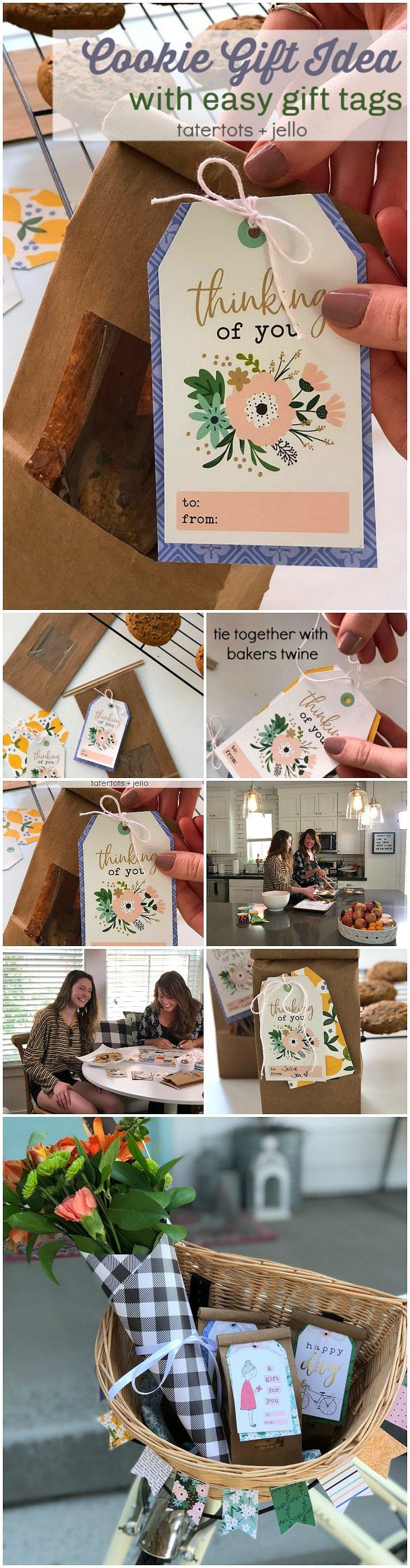 Cookie Gift Idea With Easy Handmade Gift Tag Great Neighbor Gift