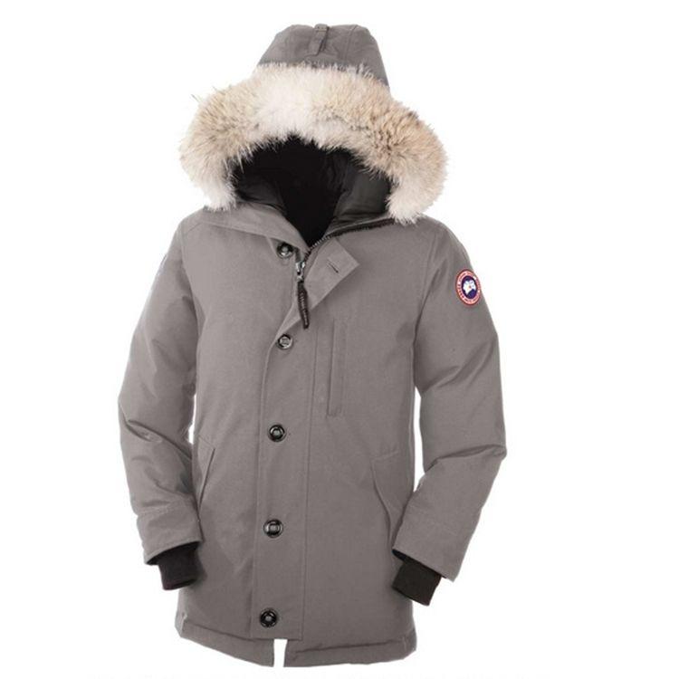 Canada Goose Men S Jacket Light Grey With Fur Trimmed Hood2 Canada Goose Mens Fashion Parka