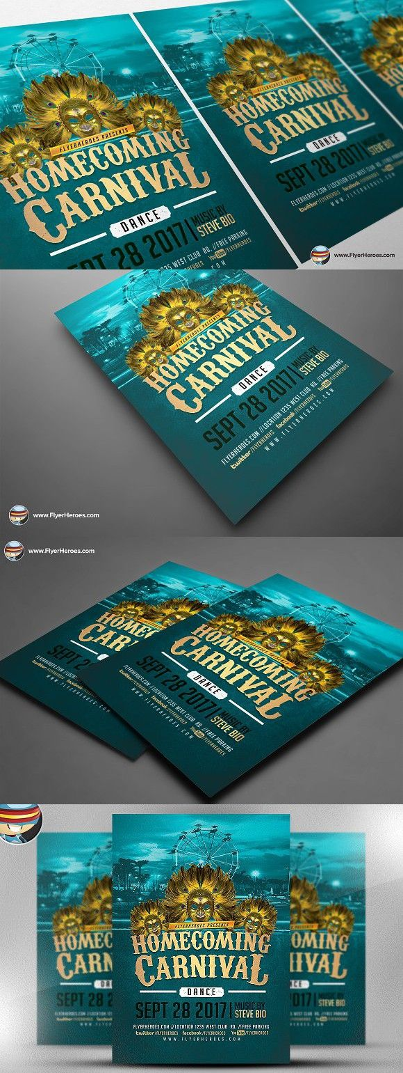 Homecoming Carnival 2017 Afiches Pinterest Homecoming Flyer