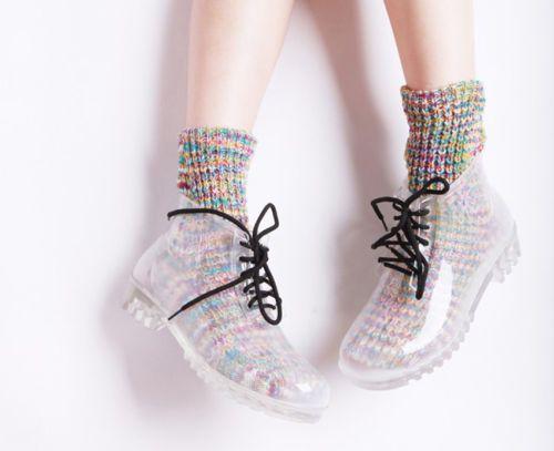 Rain shoes, Lace up ankle boots