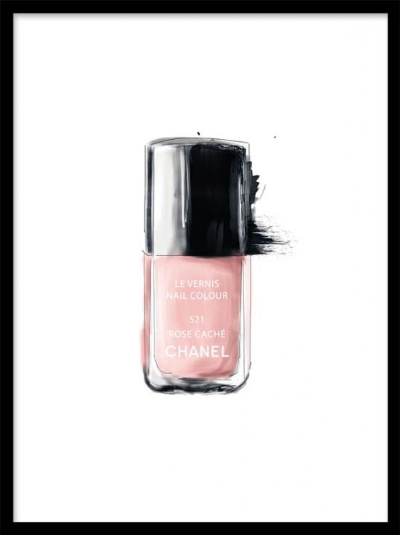 Art Print Chanel Nail Polish Matches Perfectly With Chanel Lipstick Poster More Make Up And
