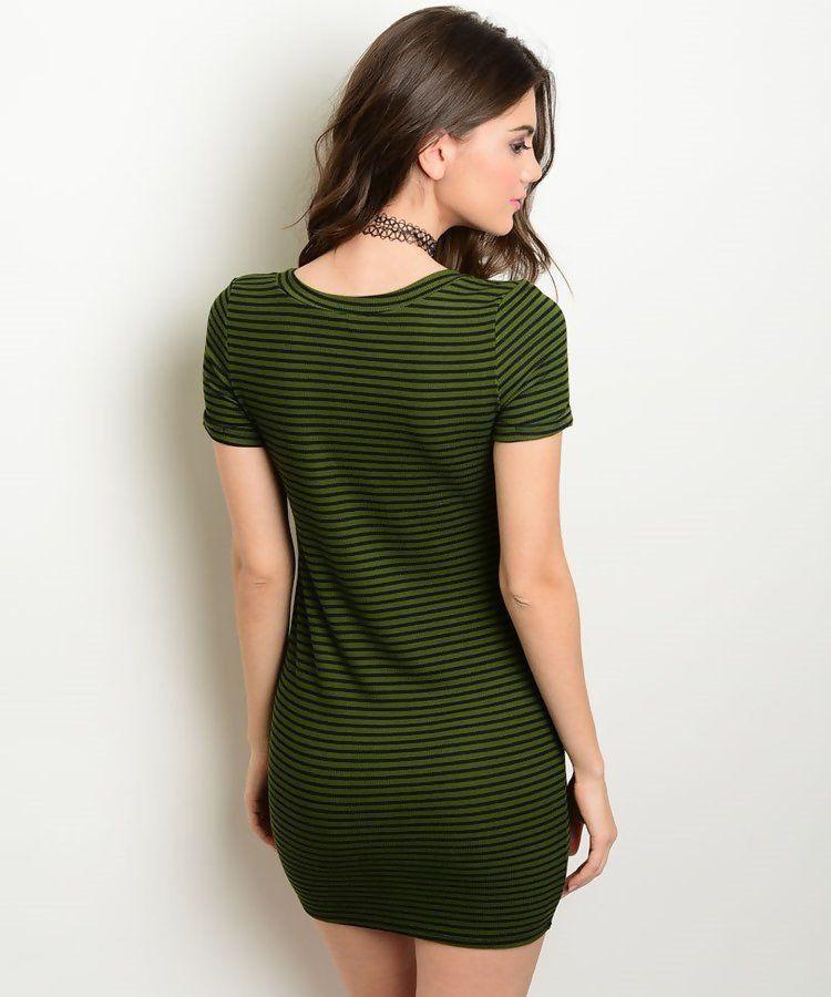 Comprar vestido verde oliva rayas por internet for Accesorios para piscinas costa rica