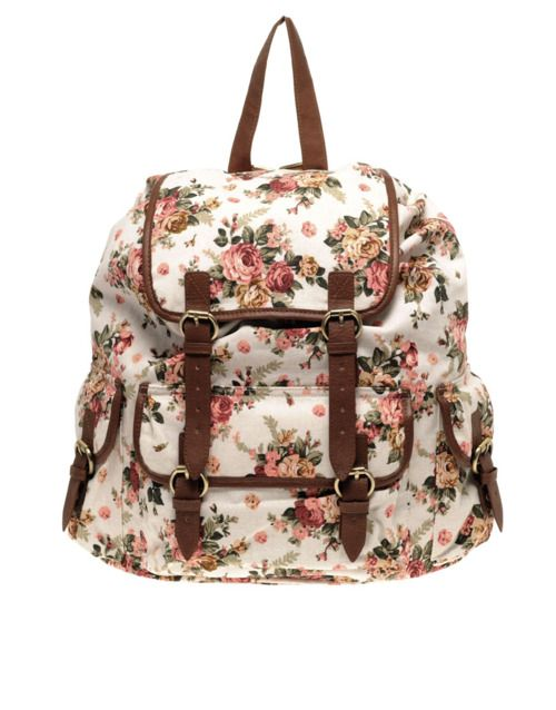 dfe7ef7e8497 ASOS floral canvas backpack
