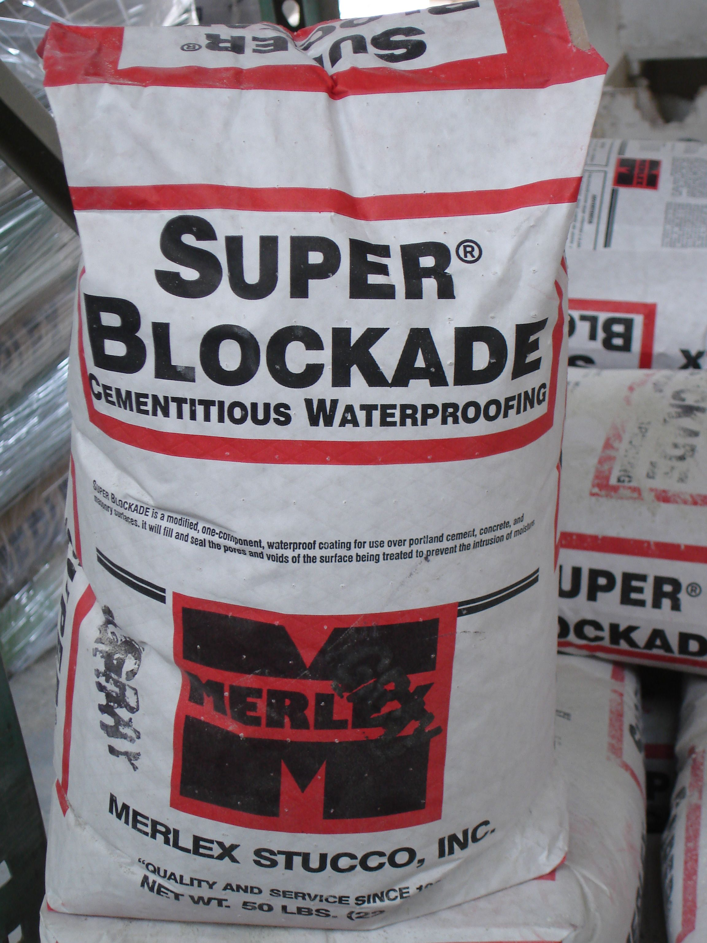 Super Blockade is a cementitious waterproofing product