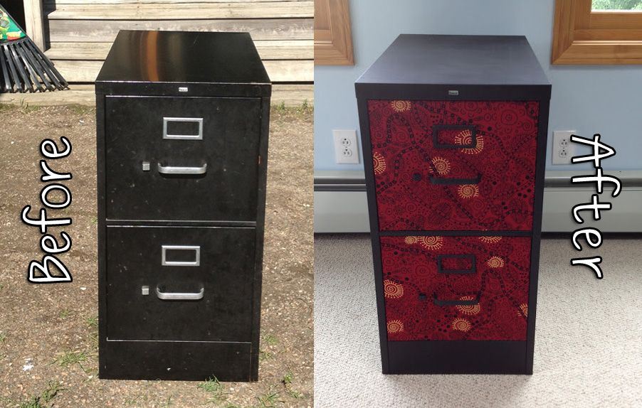 new product a5923 adec7 QuarDecor: Fancy File Cabinet Fix: Tribal Red & Black Fabric ...