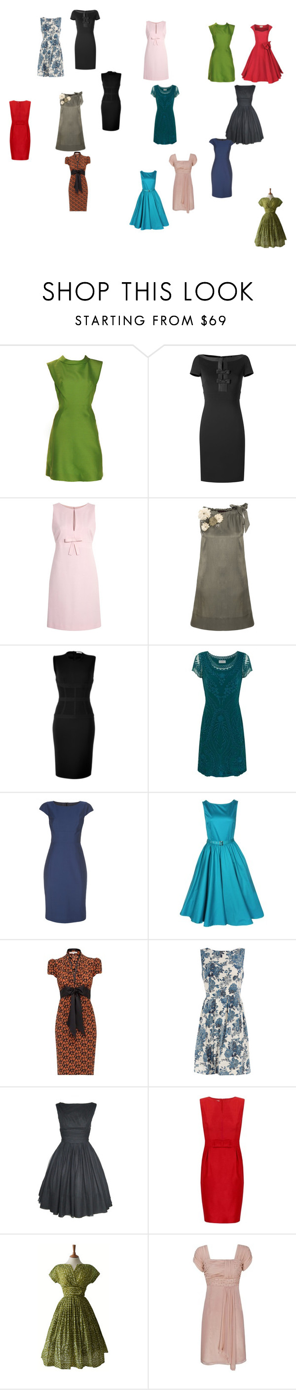 """""""Shift dresses I like"""" by jenfeatch ❤ liked on Polyvore featuring Suzy Perette, Valentino, RED Valentino, Not So Serious, Givenchy, Kaliko, Paul Smith, Dorothy Perkins, Minuet Petite and vintage inspired"""