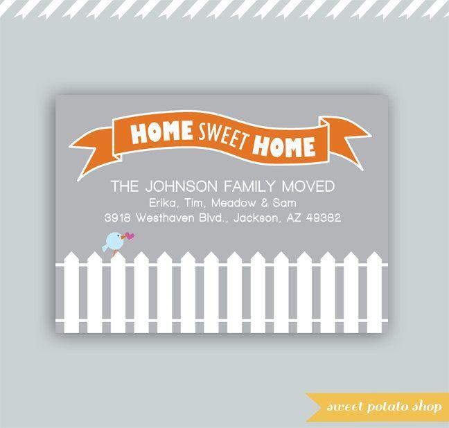 Card Making Ideas Pdf Part - 32: Digital Printable Weu0027re Moving Home Sweet Home Card - PDF. $10.00, Via
