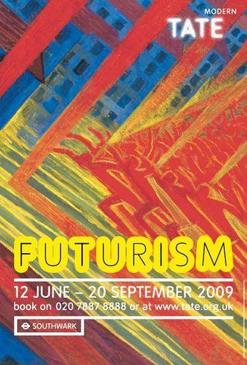 tate modern futurism poster