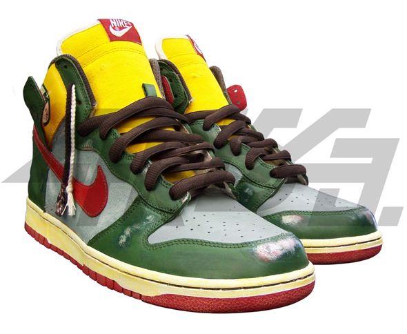 Boba Fett of Star Wars Custom Nike Dunk