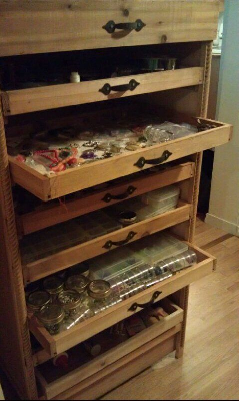 Couldn T Find The Right Storage Cabinet So S Wood Made By Me