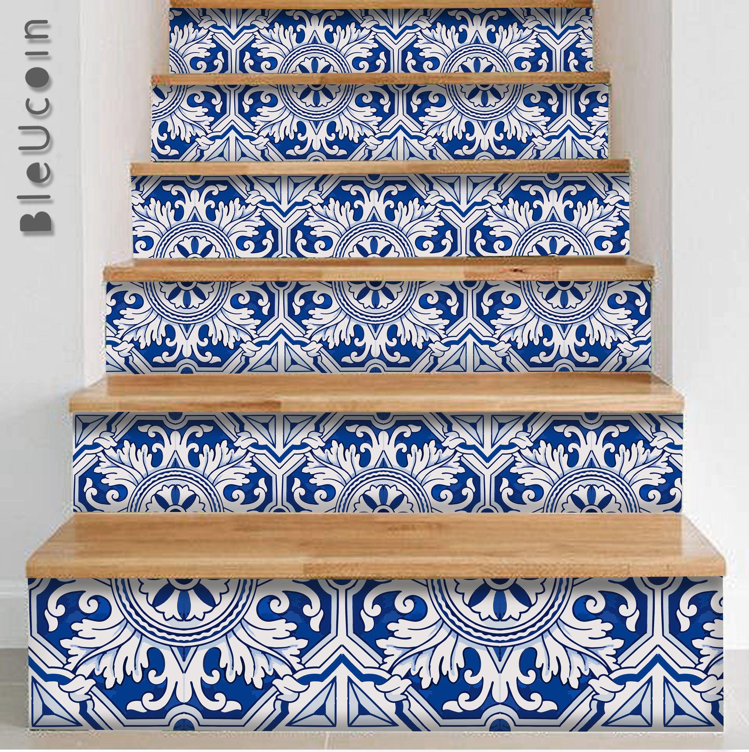 Pin by Bleucoin on stair riser decor Pinterest