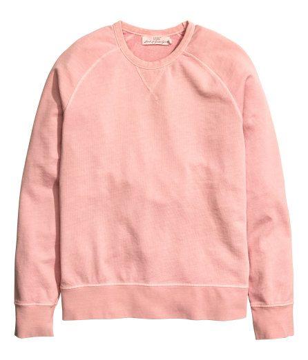 Sweatshirt | Dusty pink | Men | H&M US | Sweater outfits men