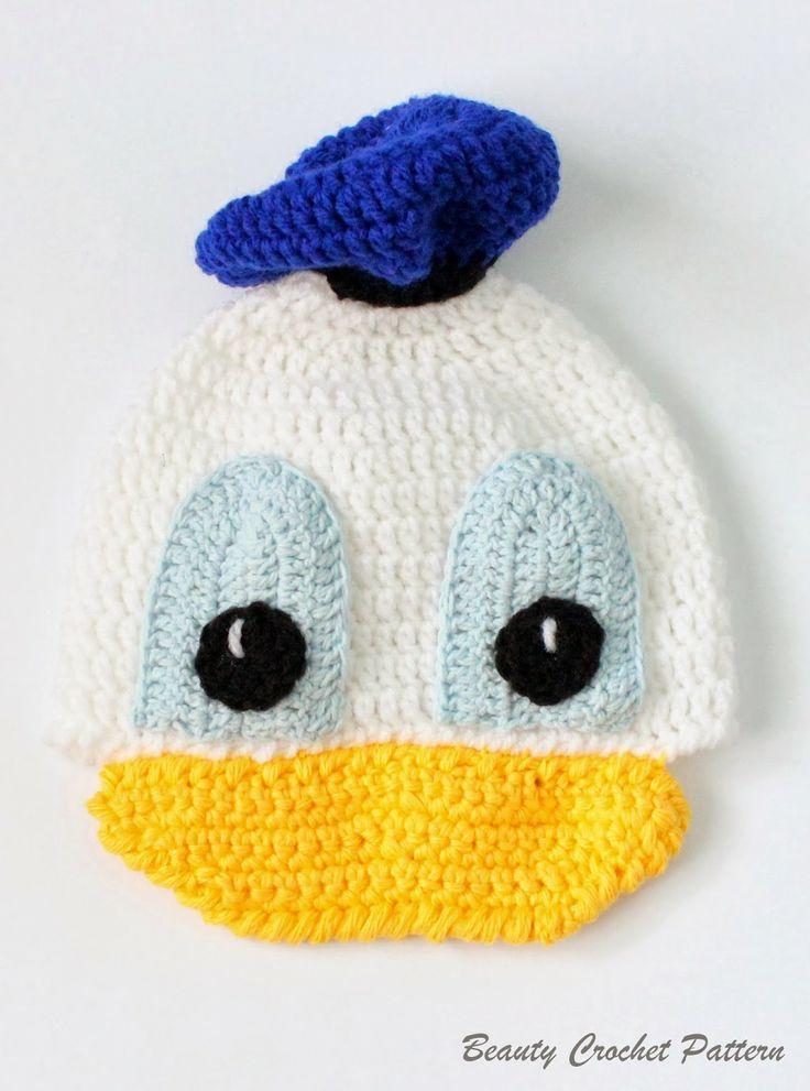 Donald Crochet Hat Pattern | Patrones | Pinterest | Croché ...