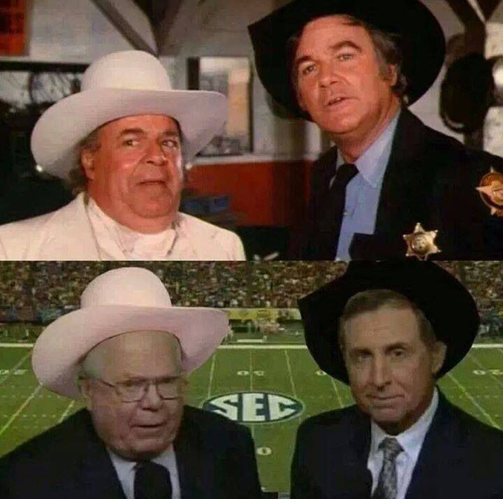 Image result for verne lundquist gary danielson boss hogg