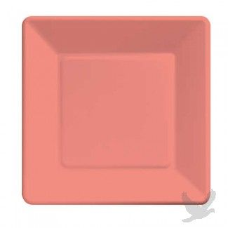 Light Coral Square Plates