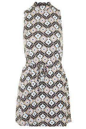 Tile Print Tunic Dress