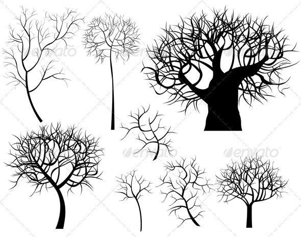 Trees Vector Trees Oak Tree Logo Design Tree Logo Design