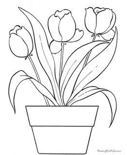 Tulip Flowers Coloring Pages Printable Flower Coloring Pages Flower Coloring Pages Flower Printable