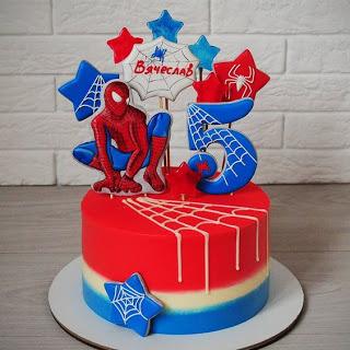 Ideas De Decoracion Para Fiesta Spiderman Tortas De Spiderman Pasteles De Spiderman Tarta De Spiderman
