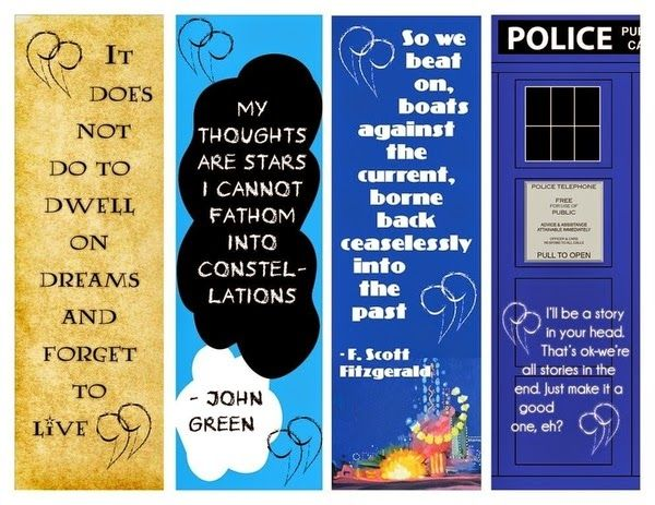 fandom printable Infowhelm 5 free printable bookmarks for your