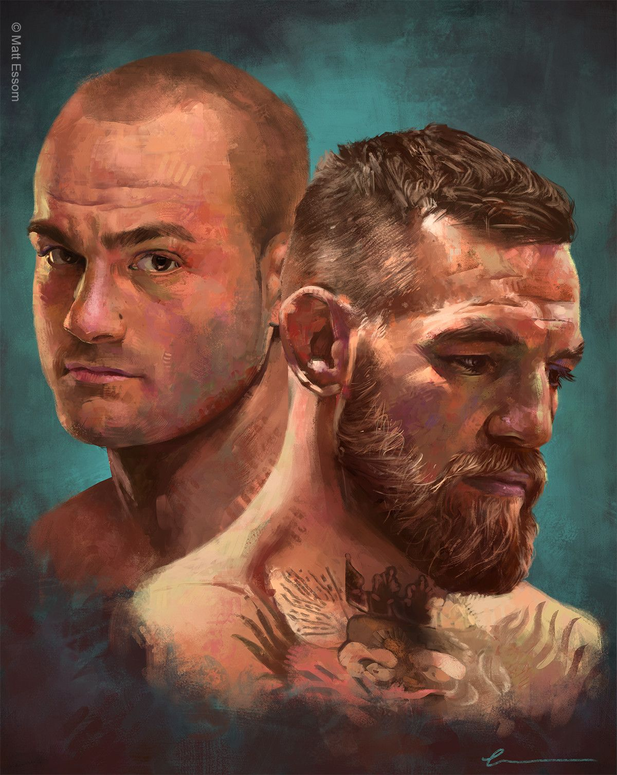 Artstation Mystic Mac Matt Essom Digital Portrait Ufc Poster Art