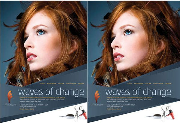 Hair Stylist  Salon Flyer Template   Beauty Salon Flyer