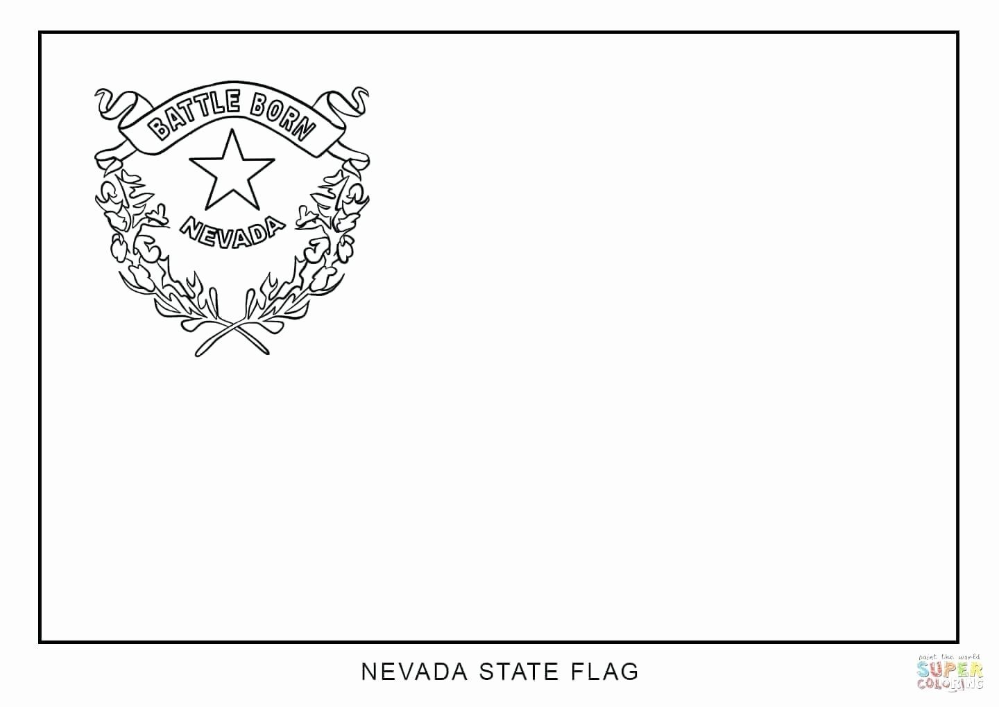 State Flags Coloring Pages Di 2020 Nevada
